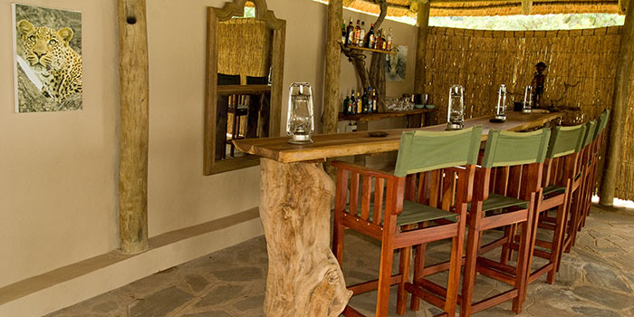 Leopard Lodge Bar area to quench your thirst